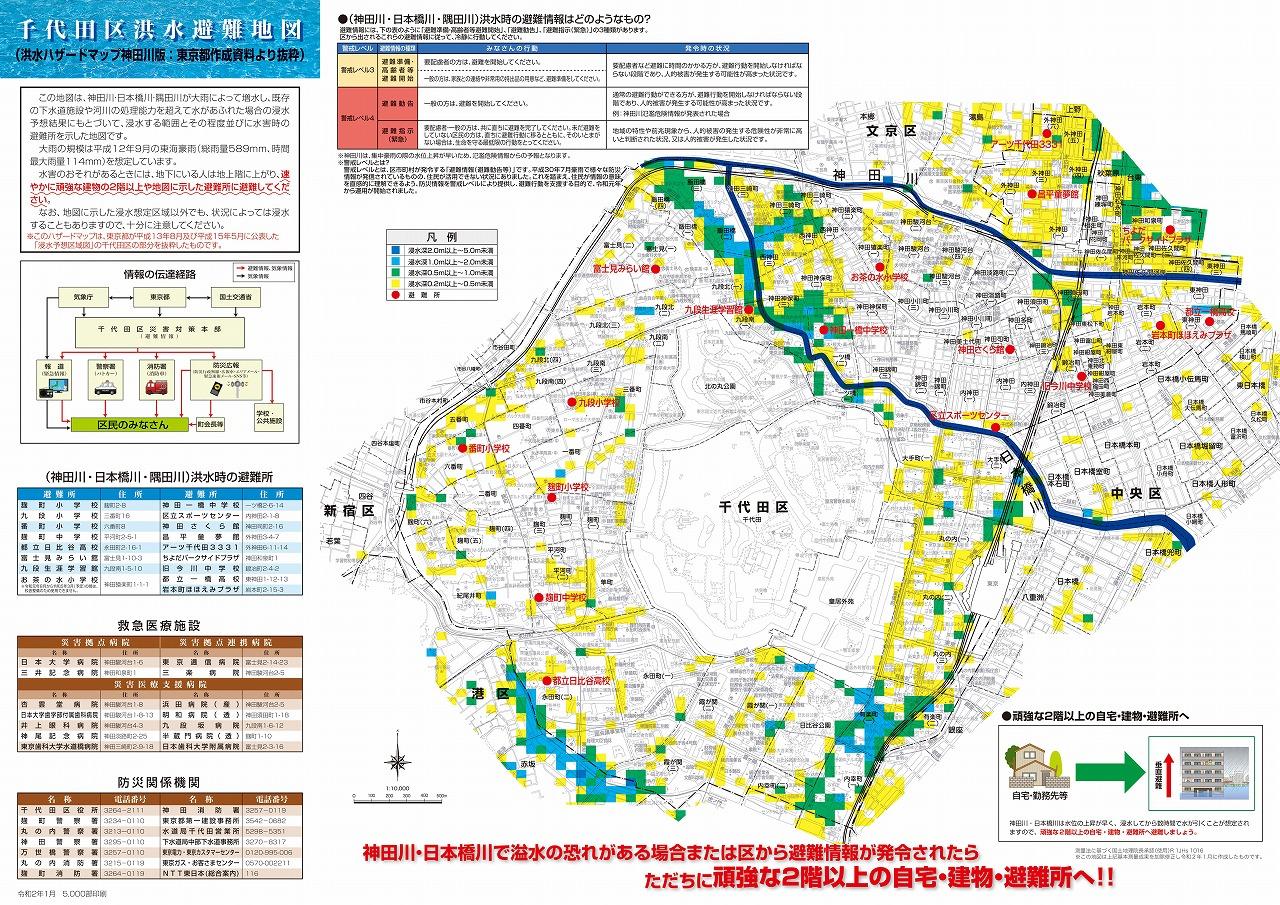 ハザードマップ 洪水 千代田区